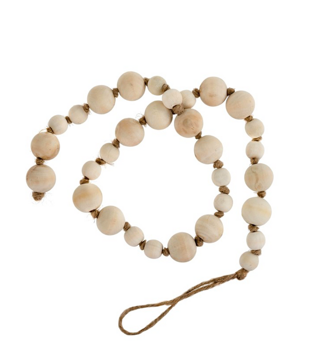 Beads, Wooden Prayer, Natural