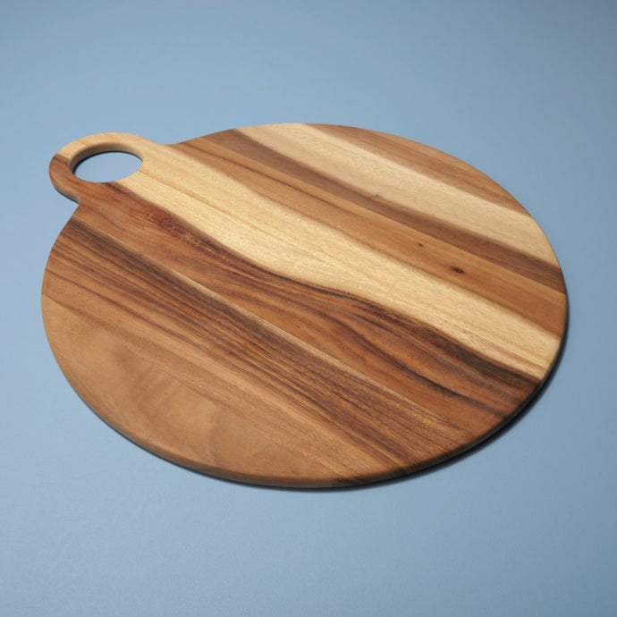 Acacia Round Board with handle