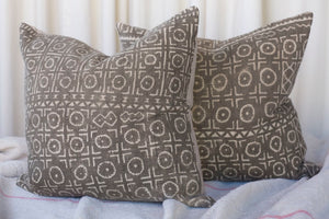 Pillow, African Textile Brown