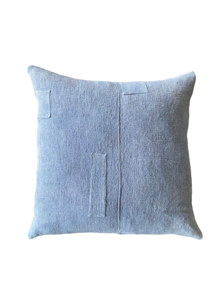 Pillow, Blue Dyed Square