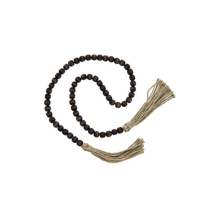 Beads, Tassel Prayer Brown