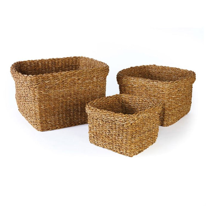 Baskets, Seagrass Square w/ Cuff