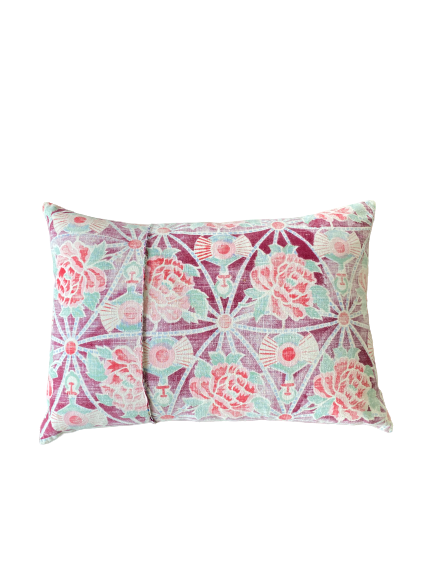 Pillow, Vintage Chinese Floral Star