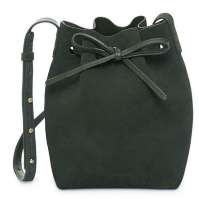 MANSURSTUDIOS suede bucket bag mansur women faux suede shoulder bag