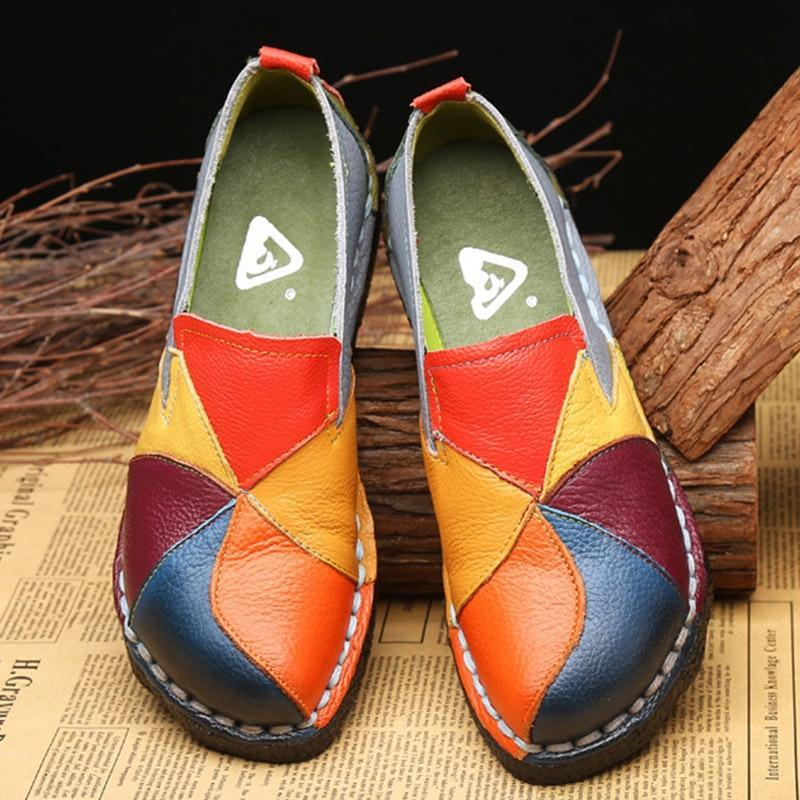 Fashion Women Flats Women Shoes Comfort Genuine Leather Shoes