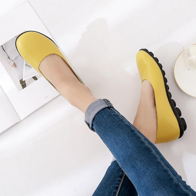 Flat Shoes Women Leather Loafers