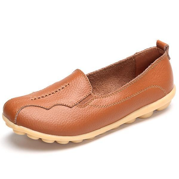 Women Flats Shoes Genuine Leather Female Casual Shoes