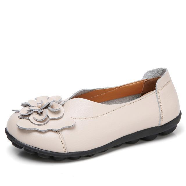 Women Ballet Flats Genuine Leather Loafers Shoes