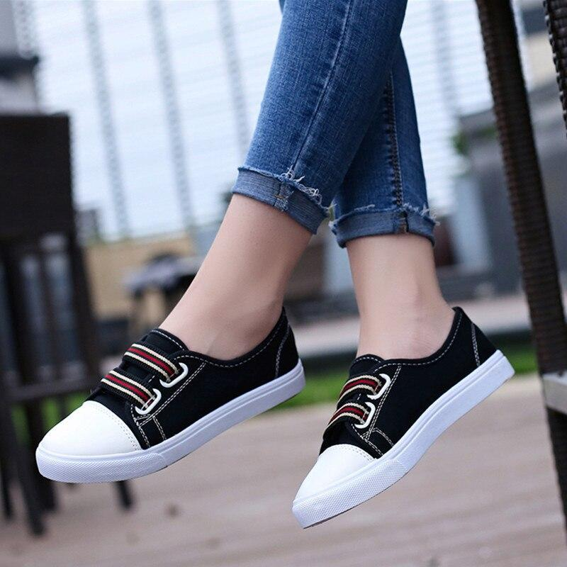 Fashion Breathable Women Canvas Shoes Lace-up Casual Ladies Shoes