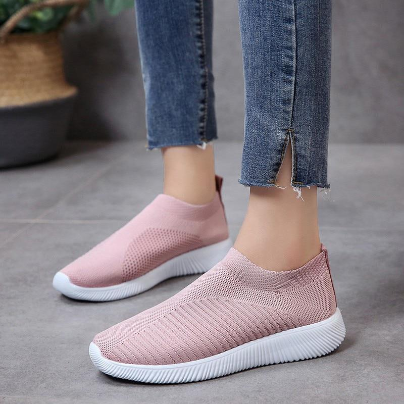 Women Flat Shoes Casual  Fashion Mesh Sneaker Flats Shoes