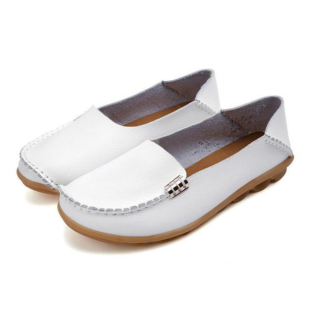 Women Flats Slip On Women Loafers Soft Moccasins With Genuine Leather