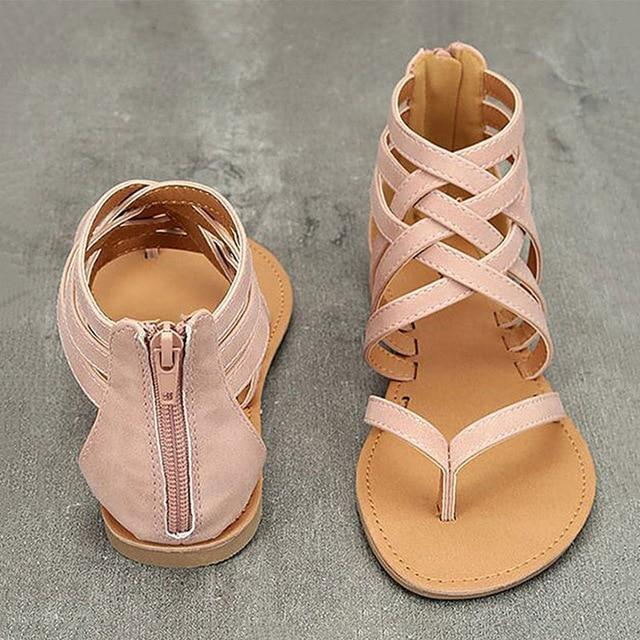 Women Sandals Plus Size Gladiator Sandals For Beach Shoes Woman Rome Flat Sandals