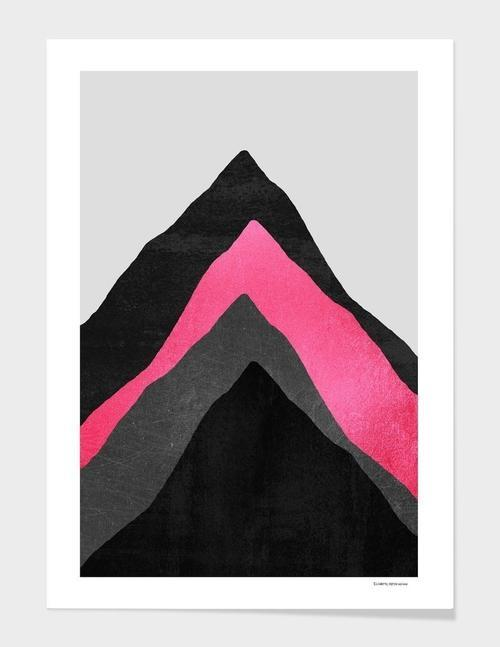 Four Mountains  Pink  Frame