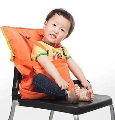 Portable Infant High chair Dining Foldable Baby Safety Seat With Belt