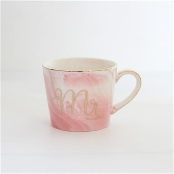 Mr & Mrs Marble Coffee Mugs