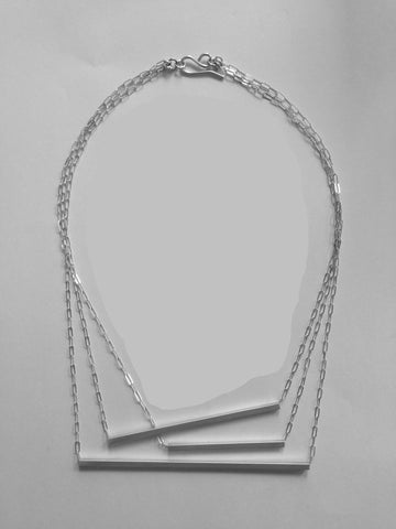 Triple Bar TrapeZe necklace