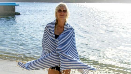 Salty Beach Life Turkish Towel
