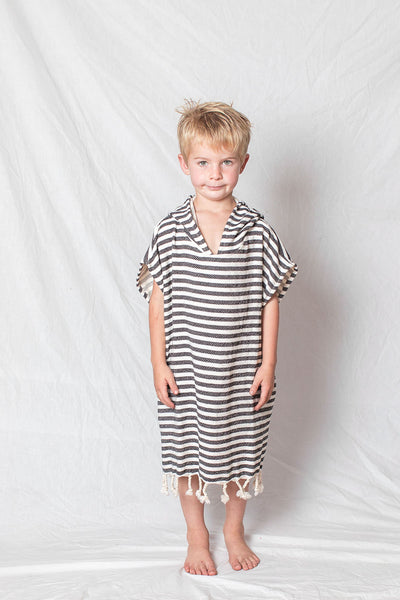 Kids Beach Poncho_Charcoal
