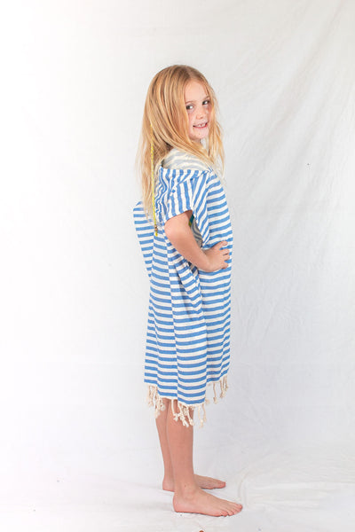 Kids Beach Poncho_Ocean Blue