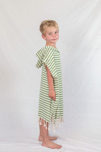 Kids Beach Poncho_Olive Green