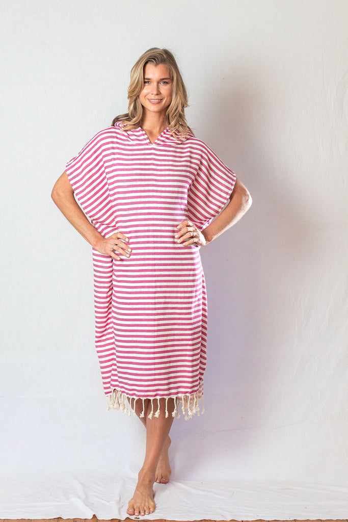 Adult Beach Poncho_ Fuchsia