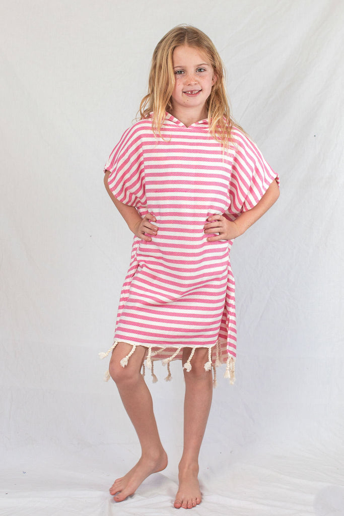 Kids Beach Poncho_Pink