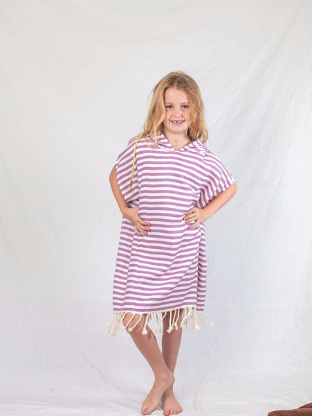 Kids Beach Poncho_Purple