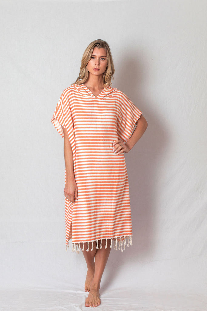 Adult Beach Poncho_Orange