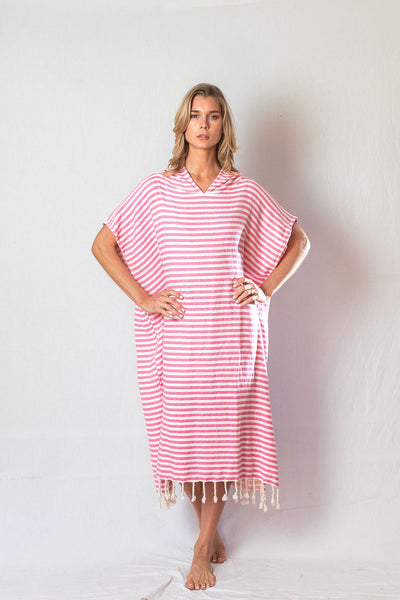 Adult Beach Poncho_Pink