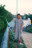 Adult Beach Poncho_Silver Grey