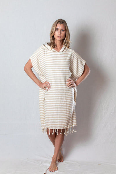Adult Beach Poncho_Sand
