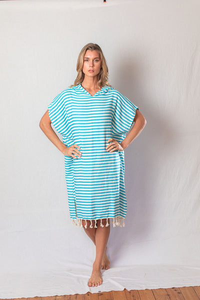 Adult Beach Poncho_Turquoise