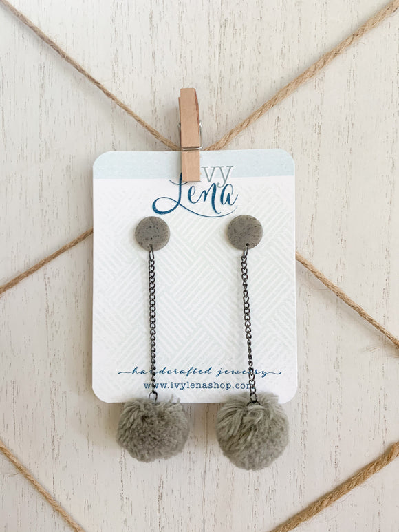 Handcrafted PomPom Earrings