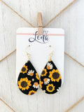 Handcrafted Polymer Clay Earrings- Sunflower