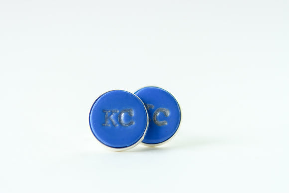 Handcrafted Polymer Clay- KC Cufflinks