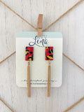 Handcrafted Polymer Clay Earrings- Chiefs
