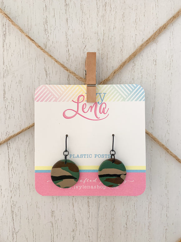 Handcrafted Polymer Clay Stud Earrings-Plastic Hook