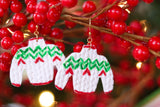 Handcrafted Polymer Clay Painted Earrings- Holiday