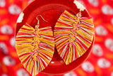 Handcrafted Macrame Earrings- Chiefs **MADE-TO-ORDER**
