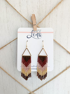 Handcrafted Beaded Fringe Earrings