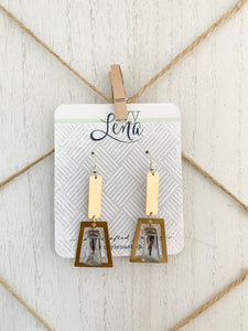 Handcrafted Beaded and Brass Earrings