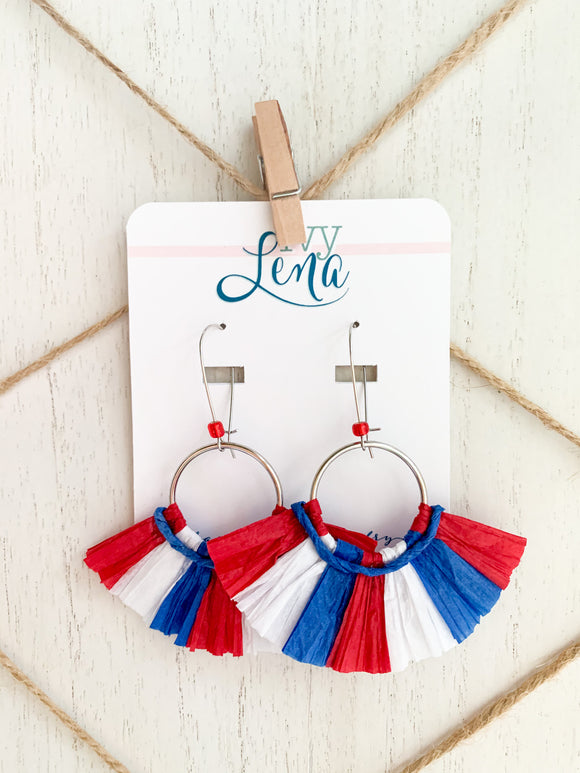 Handcrafted Raffia Earrings