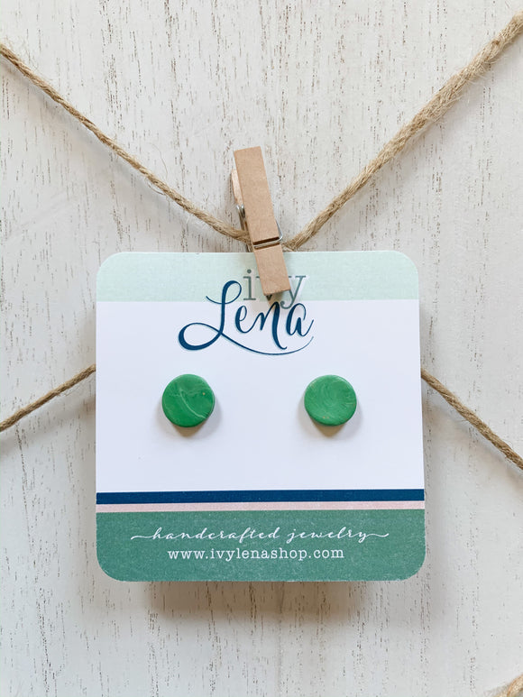 Handcrafted Polymer Clay Stud Earrings