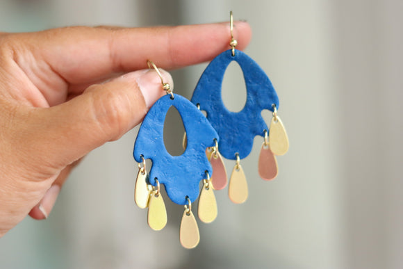 Handcrafted Polymer Clay Earrings- Royals