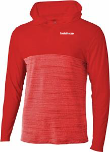Hooded Quarter Zip - Red