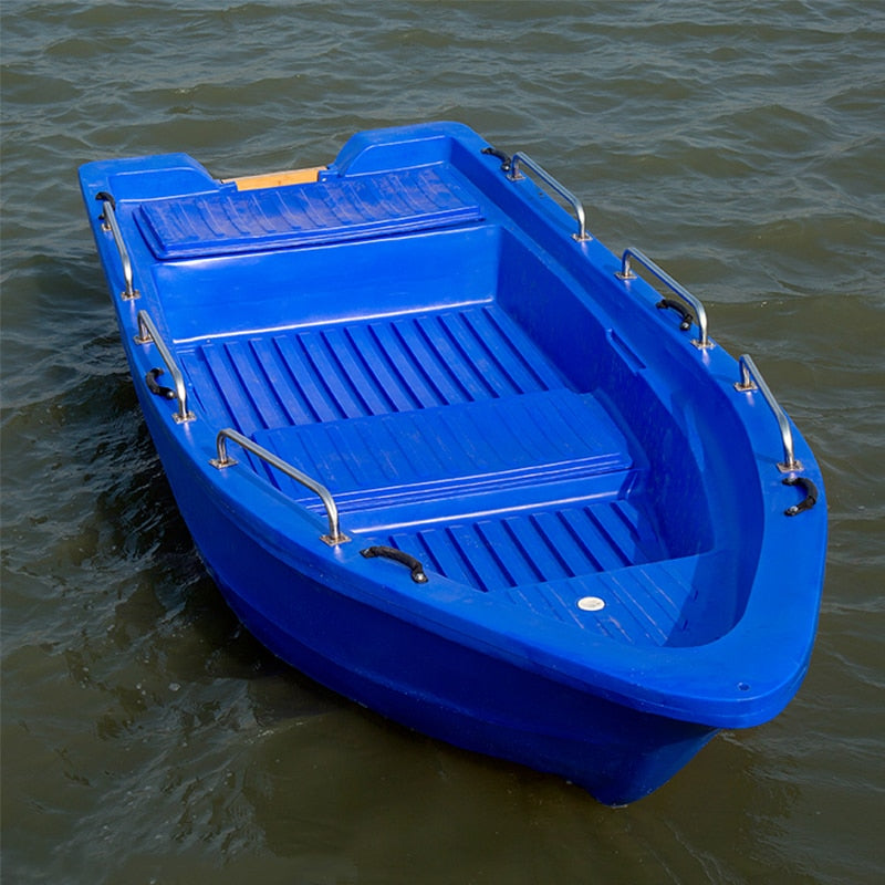 4.3m 14.1 feet Blue Fishing  Plastic Boat Kayak Water Sports
