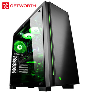 GETWORTH R34 High End Gaming Computer Intel I9 9900K Desktop 2080Ti Water Cooling 1TB SSD 1TB HDD