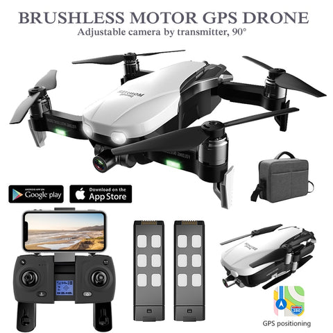 GPS Drone with HD Camera 2K Two-Axis Anti-Shake RC Quadcopter WiFi FPV Profissional Drone Quadrocopter Rc Helicopter Dron GPS