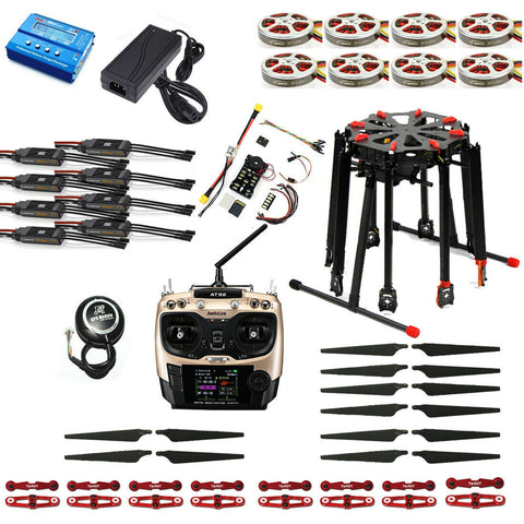 RC Quadcopter Tarot X8 TL8X000 Pro 8-Axle Folding Frame GPS Drone 350KV 40A PX4 32 Bits Flight Controller AT9S Transmitter TX