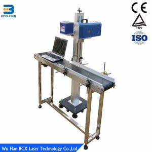 Wuhan best service high resolution 20W flying type CO2 laser marking machine for Mobile